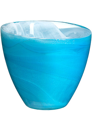 Sea Glasbruk Candy Votive, Blue 3 7/8in