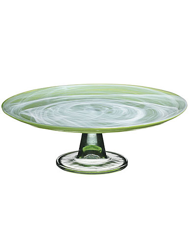 Sea Glasbruk Sweet Cake Plate, Lime