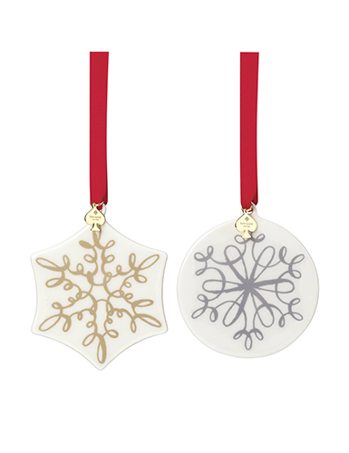 Lenox Kate Spade Jingle All the Way Ornaments, Set of 2