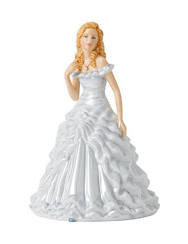 Royal Doulton China Pretty Ladies Birthstone Petites April - Diamond