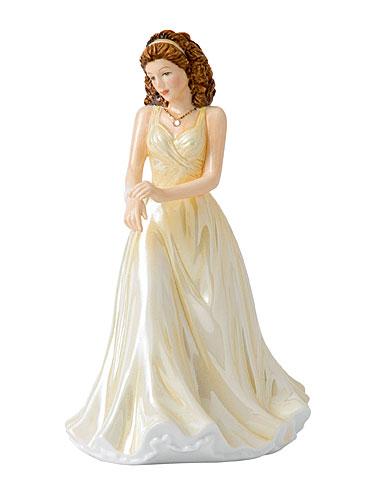 Royal Doulton China Pretty Ladies Birthstone Petites June - Pearl