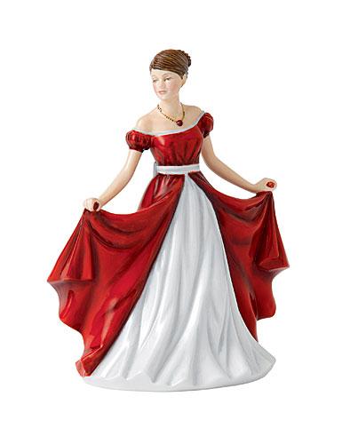 Royal Doulton China Pretty Ladies Birthstone Petites July - Ruby