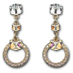 Swarovski Geometric Pierced Earrings