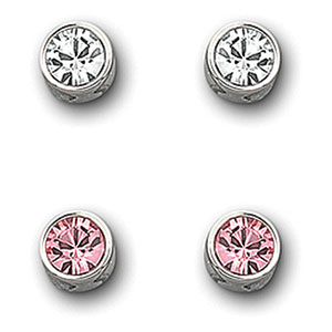 Swarovski Light Rose Harley Pierced Earrings Set
