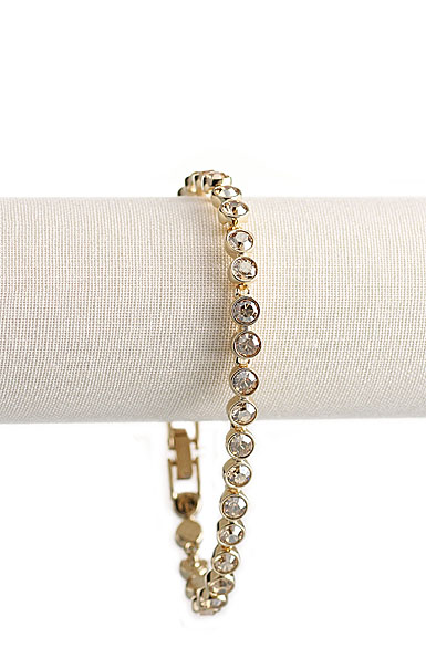 Swarovski Gold and Crystal Tennis Bracelet
