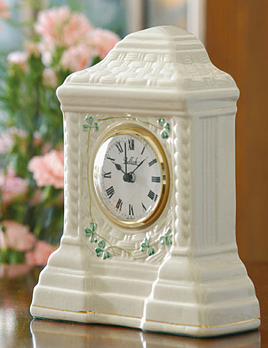 Belleek China Cashel Clock