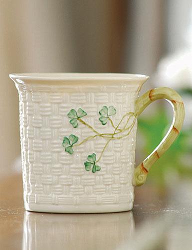 Belleek China Shamrock Mug, Single