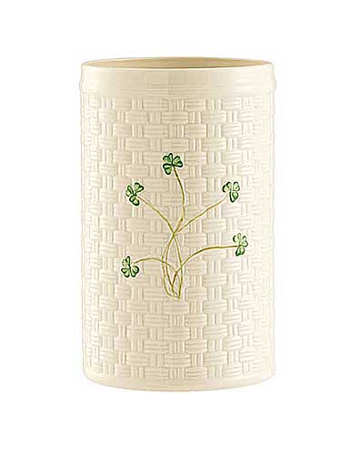 Belleek China Shamrock Utensil and Bottle Holder