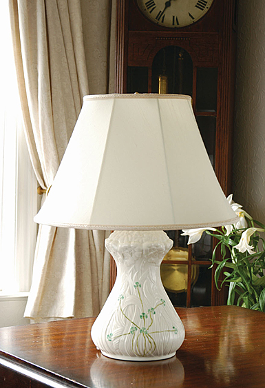 Belleek Daisy Lamp and Shade