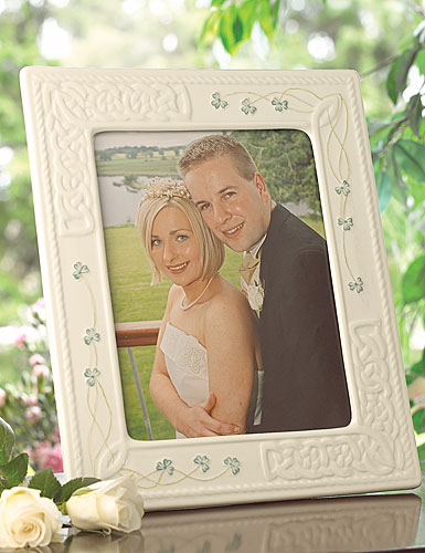 Belleek Shamrock Tara Large 8 x 10 Frame