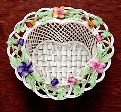 Belleek China Flowers of The Field Basket