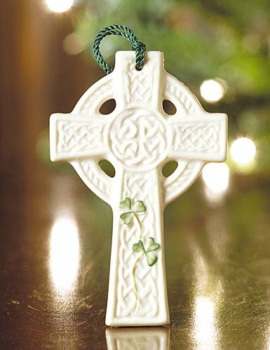 Belleek Saint Kierans Celtic Cross 2017 Ornament