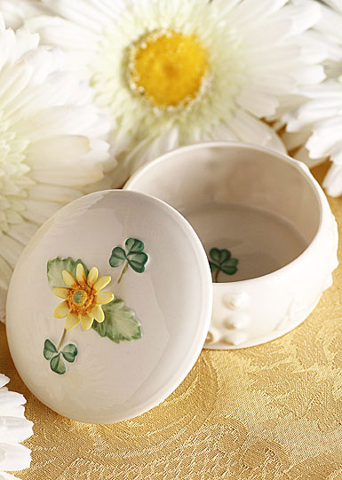 Belleek China Sunflower Trinket Box 2014 Limited Edition