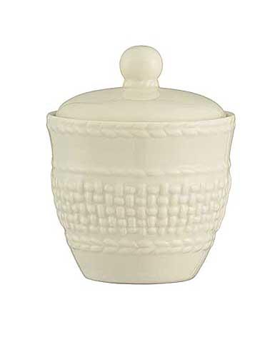 Belleek China Galway Weave Sugar Bowl