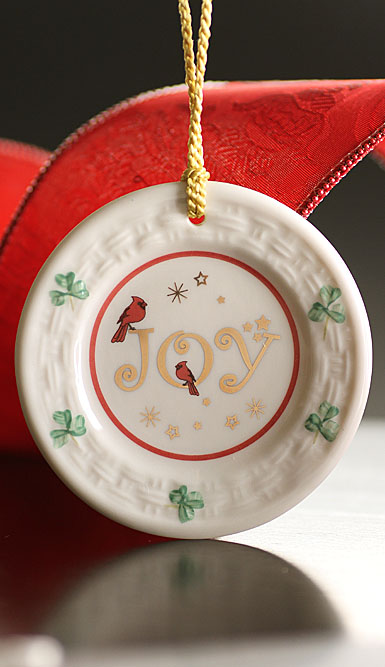Belleek Joy Plate 2017 Ornament