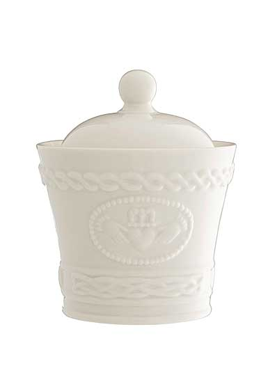 Belleek China Claddagh Sugar Bowl