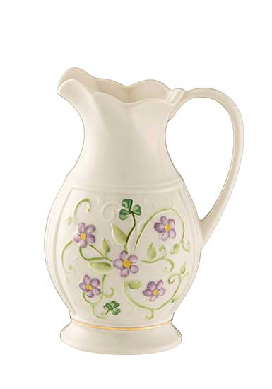 Belleek China Irish Flax Pitcher