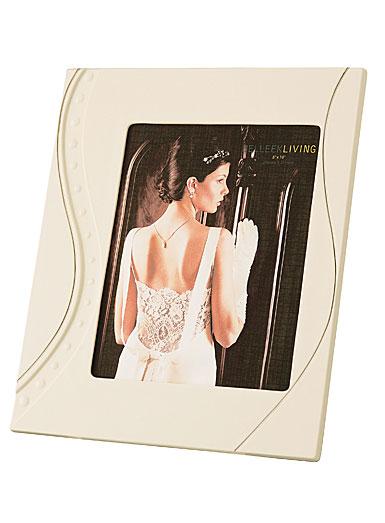 Belleek Living China Silver Ripple Platinum Detail 8 x 10 Frame