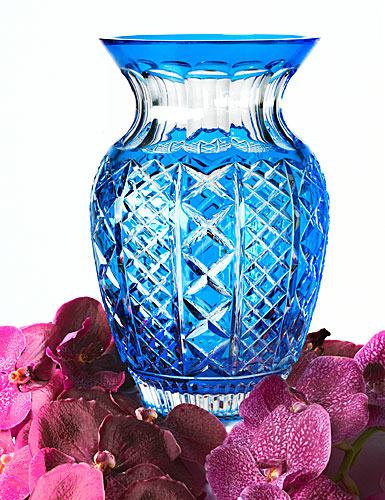 Waterford Fleurology Molly Blue Cased Bouquet Vase