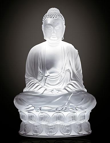 Lalique Large Buddha Figurine