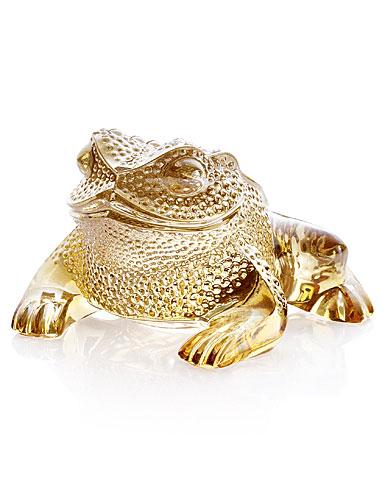 Lalique Gregoire Frog, Gold Lustre