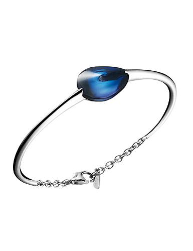 Baccarat Fleurs De Psydelic Small Bracelet, Silver and Blue Mordore