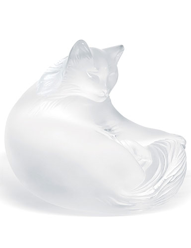 Lalique Figure Happy Cat