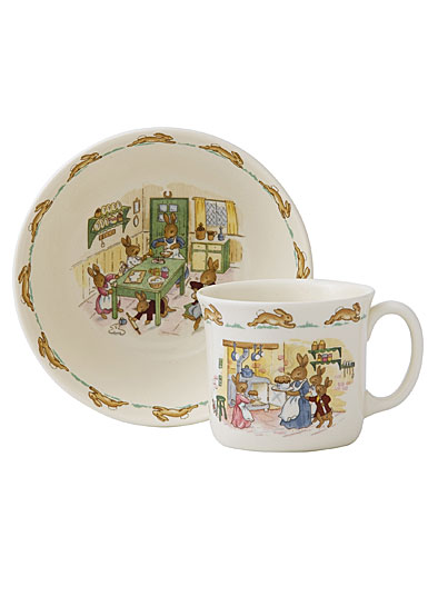 Royal Doulton Bunnykins Nurseryware Infant Bowl and Mug, Set