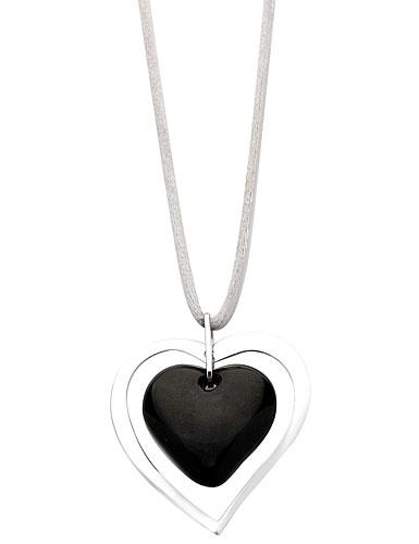 Lalique Kiss Pendant, Black