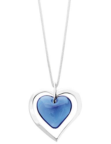 Lalique Kiss Pendant, Blue