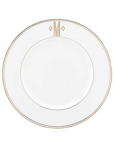 Lenox China Federal Gold Monogram Block Dinner Plate A