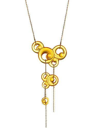 Lalique Lijiang 3 Elements Necklace Amber