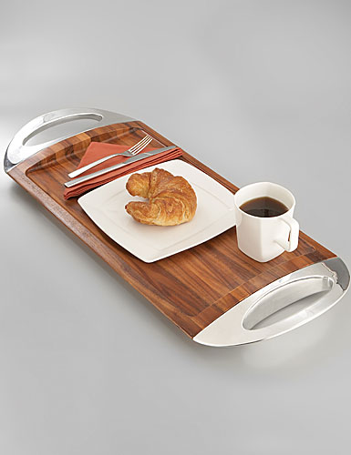 Nambe Metal Grande Wood Tray