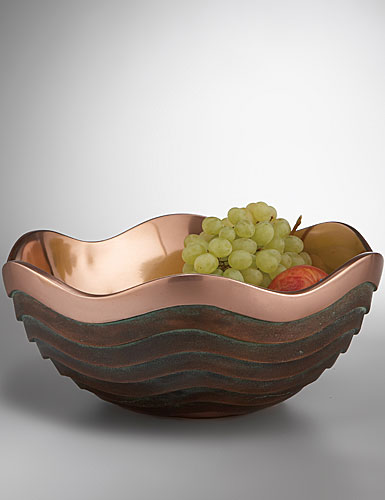 Nambe Metal Copper Canyon Bowl, 13in
