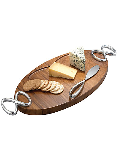 Nambe Infinity Cheese Board With Knife