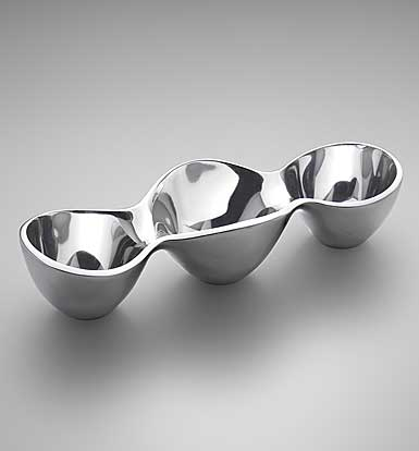 Nambe Metal Triple Condiment Tray