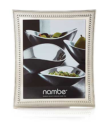 "Nambe Metal Beaded 8x10"" Picture Frame"