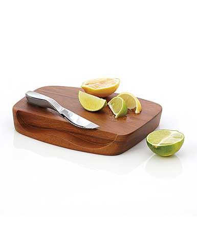 Nambe Wood Gourmet Blend Bar Board With Knife