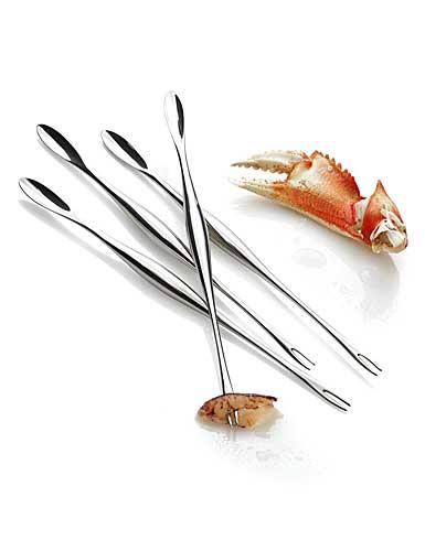 Nambe Metal Oceana Oceana Seafood Forks, Set of 4