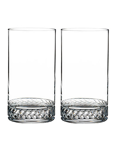 Nambe Crystal Braid HighBall, Pair