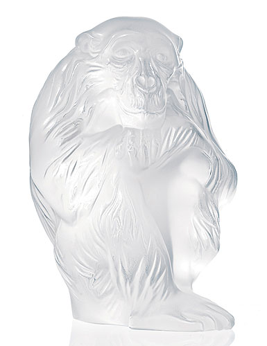 Lalique Monkey Figure Chita, Clear