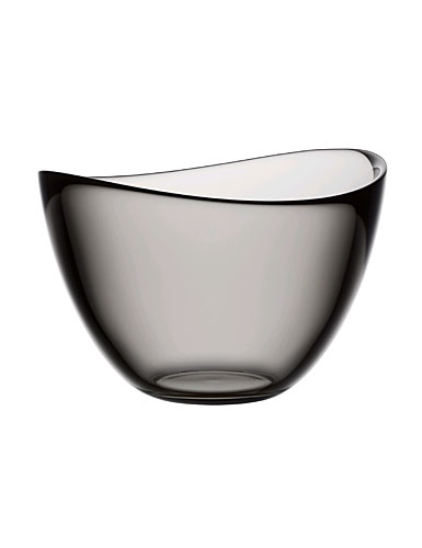 Orrefors Pond Grey Bowl