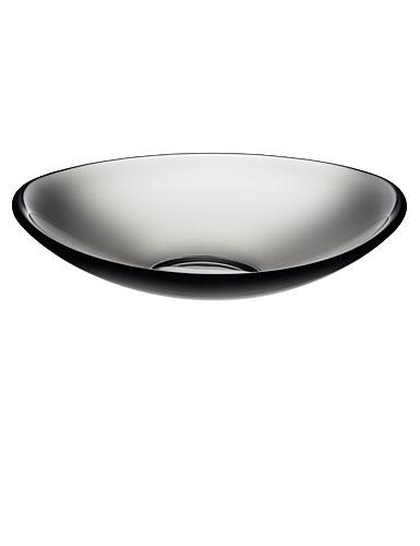 Orrefors Pond Grey Platter