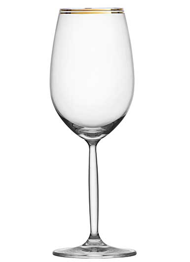 Schott Zwiesel Diva Living Wine Glass, Gold Band, Single