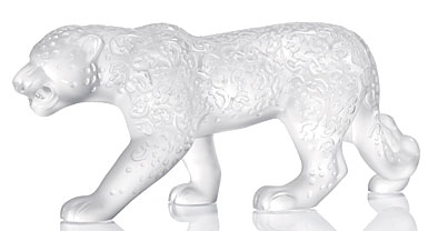 Lalique Figure Rajah Jaguar - 13 3/10 in