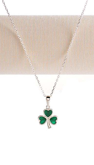 Cashs Sterling Silver Shamrock Necklace