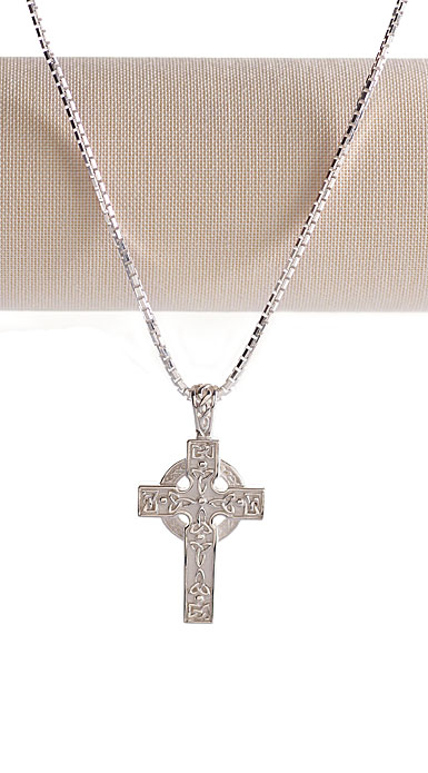 Cashs Sterling Silver Irish Cross Pendant Necklace