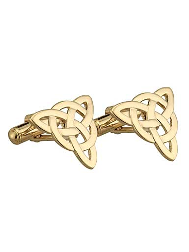 Cashs Gold Plated Celtic Knot Cufflinks Pair