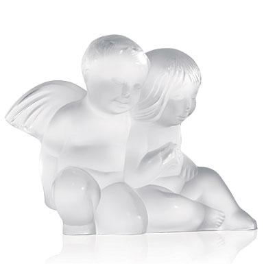 Twin Baby Angel Pictures Lalique figurine twin angels