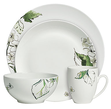 Vera Wang Floral Leaf 4 Piece Place Setting